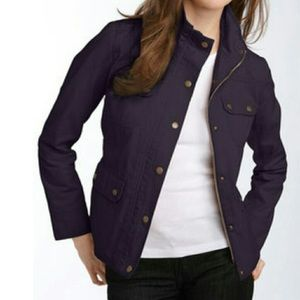 Kut From the Kloth Canvas Utility Jacket in Plum